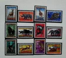 Belgian Congo Stamps,1959 Definitive Issues - Animals, Fauna, MNH