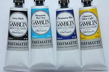 4 FASTMATTE Gamblin Oil Paint's-MIXED COLOR SET- 37ml- Series 1, 2 & 4