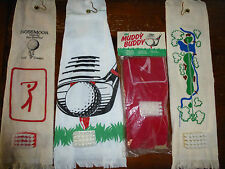 MUDDY BUDDY GOLF TOWEL WITH CLUB CLEANING BRUSH USA MADE