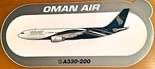 OMAN AIR, Airbus A330-200, Original, High Quality Print, new, HIGHLY RARE !!!