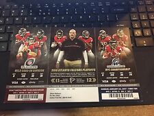 2016 2017 ATLANTA FALCONS PLAYOFF TICKET SHEET STRIP SET PACKERS SEAHAWKS STUB