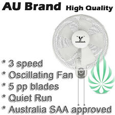 40cm 400mm Wall Mount Fan Oscillating 5 PP Blades Quiet Operation SAA Approved