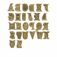 Wood Burning Hot Stamp Metal Capital Letter Set Craft Heat Walnut Greeting Text