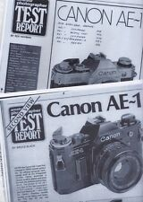 CANON AE-1 , 1976 & 1979  ,  Amateur Photography  Magazine Camera  Test Reports