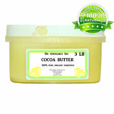 3 LB GOLDEN COCOA BUTTER ORGANIC RAW PURE PRIME COLD PRESSED UNREFINED