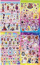 LISA FRANK 4 large Sheets 300 stickers Hearts Puppy Fashion Sweets Peace Rainbow