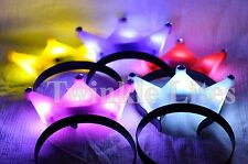 12 PACK Light-Up Princess Crown Headbands LED Blinking Flashing Frozen Supplies