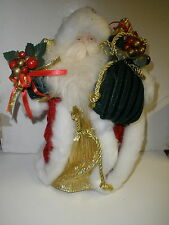 "Santa Claus Christmas tree topper Old World Santa 12"" tall"