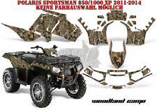 Amr racing decoración Graphic kit ATV Polaris sportsman modelos Woodland camo B