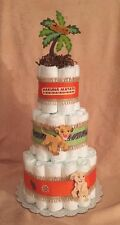 3 Tier Diaper Cake Walt Disney The LION KING Baby Shower Centerpiece boy or girl