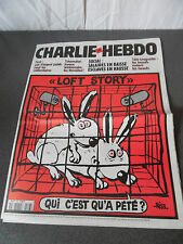 "Rare Charlie Hebdo  2 mai 2001 N° 463  ""Loft Story"" Couverture Riss"