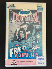 COUNT DUCKULA - A FRIGHT AT THE OPERA - VHS