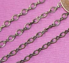 10ft Antiqued Brass figure 8 connector chain 2.5X3.1mm