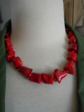 Red Coral Chunky necklace 18""