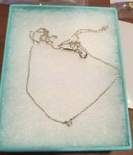 Tiffany & Co. Sterling Silver Elsa Peretti Diamonds By The Yard Diamond Necklace