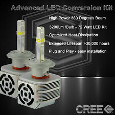 360 Degree Beam - New Gen CREE LED 6400LM Head Light Kit 6k 6000k - H7 (C)