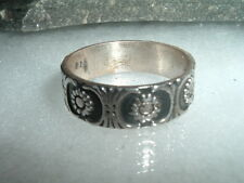 MEN'S VINTAGE STERLING SILVER RING BAND MEXICO 6 GRAMS IN RING BOX