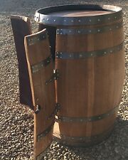Solid Oak Wine Barrel Cabinet Varnished  | Tubs| Patio Tables | Garden Furniture