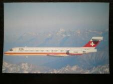 POSTCARD CTA MCDONNEL DOUGALS MD-87 OVER THE SWISS ALPS 7/88