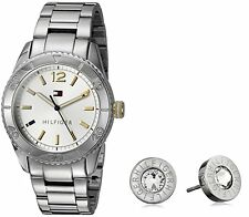 Tommy Hilfiger 2770007 Stainless Steel Womens Watch Earrings Set