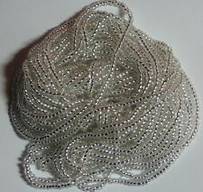 11/0 HANK METALLIC SILVER LINED CRYSTAL ROUND HOLE CZECH GLASS SEED BEADS