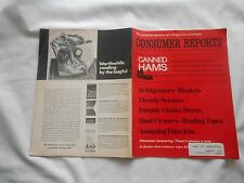 CONSUMER REPORTS-OCTOBER,1970-CANNED HAMS-ELECTRIC SCISSORS-ANTIQUING PAINT KITS