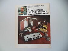advertising Pubblicità 1973 KODAK POCKET INSTAMATIC