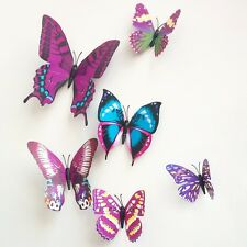 72PCS 3D DIY  Multi-Color Butterfly Wall Sticker Home Wedding Room Art Decor