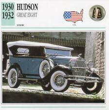 1930-1932 HUDSON GREAT EIGHT Classic Car Photograph / Information Maxi Card