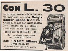 Pubblicità VOIGTLANDER BESSA FOTO PHOTO 1933 reklame advert werbung publicitè