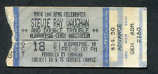 1985 Original Stevie Ray Vaughan Concert Ticket Stub Albuquerque NM Soul to Soul