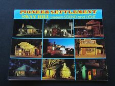 PIONEER SETTLEMENT SWAN HILL PRESENTS SOUND AND LIGHT VIEW FOLDER POSTCARD