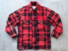 Vintage Filson Buffalo Plaid Wool Mackinaw Jacket 42 Made in USA Shooting Coat