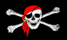 5Ft X 3Ft 5'X3' Flag Pirate Skull With Bandana Jack Sparrow