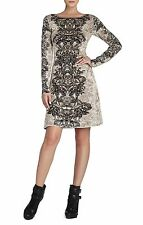 NEW BCBG MAX AZRIA FRENCH CREAM REGAN ETCHED FLORAL NGS6Y719/B43A DRESS SIZE XXS