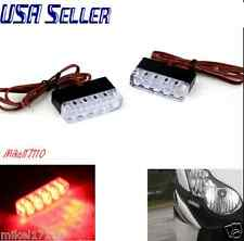 2 Universal RED LED Rear Marker Brake Tail Light Motorcycle StreetBike Motorbike