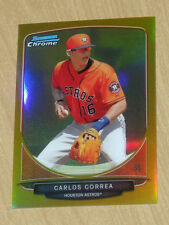 2013 Bowman Chrome (draft) GOLD refractor Carlos Correa 16/50