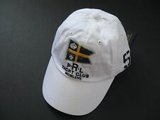 POLO RALPH LAUREN Men's White PRL YACHT CLUB Nautical Sports Cap One Size