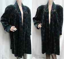 Vintage Portrait Velvet Opera Evening Open Swing Coat