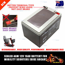 12V 15AH DEEP CYCLE Battery Disability Electric Mobility Scooter Wheelchair