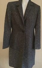 Ann Taylor Brown And Cream Tweed Dress Coat Size 6