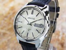 Men's Rare Seiko 5 Actus Automatic1970s Jumbo Stainless Steel Watch Japan #JA7