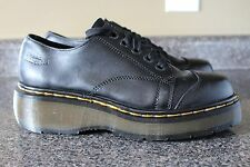 Dr. Martens Air Wear Black Leather Shoes Womens 6 Excellent Made in England