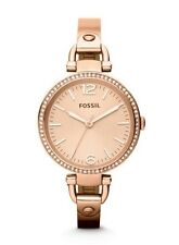 Fossil Watch * ES3226 Georgia Rose Gold Slim Steel Bangle Ivanandsophia IVN
