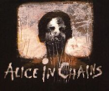 ALICE IN CHAINS Rock Metal Grunge BLACK T-SHIRT, Size Large