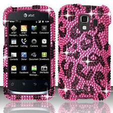 For Huawei AT&T Fusion 2 Crystal Diamond BLING Case Phone Cover Hot Pink Leopard