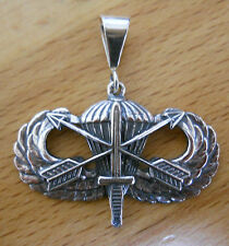 Sterling Silver U.S. Special Forces Army Airborne Novice Jump Wing pendant