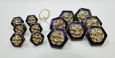 Vintage antique 22k Gold Diamond polki kundan enamel work Button set Rajasthan