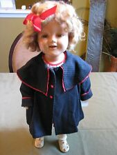 "1935 SHIRLEY TEMPLE Composition Doll--22""  Original/Marked"