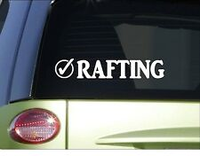 """Rafting check *H985* 8"""" Sticker decal bucket list white water"""